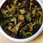 Mushroom Pepper Fry Recipe (Mushroom Recipes) - Kalan Milagu Varuval 1