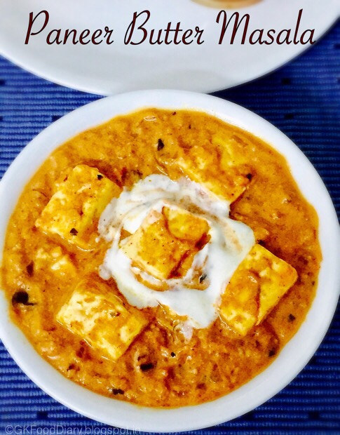 Paneer Butter Masala Recipe - With Step by Pics - Restaurant Style 1