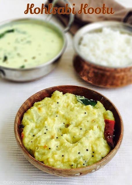 South Indian Style Kohlrabi Kootu Recipe   Nool kol Kootu   KootuRecipes 1