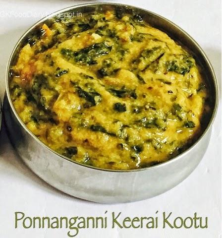 Ponnanganni Keerai Kootu Recipe (with Moong dal)| Kootu Recipes 1