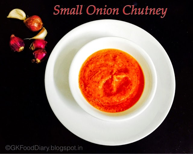 Spicy Small onion | Chinna Vengaya Kara Chutney Recipe without coconut 1