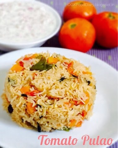 How to make Tomato Pulao Recipe | Rice varieties 1