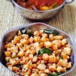 Vazhaithandu Poriyal Recipe without Coconut 1