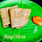 Fermented Ragi Dosa – Finger Millet Dosa with Urad dal (Keppai Dosa)