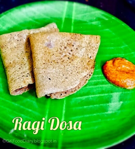 Fermented Ragi Dosa - Finger Millet Dosa with Urad dal (Keppai Dosa) 1