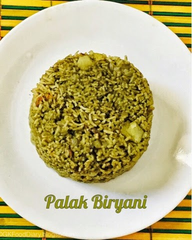 Palak Biryani Recipe | How to make Palak Biryani | Rice Varieties 1