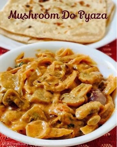 Mushroom Do Pyaza Recipe | How to make Mushroom Do Pyaza |MushroomRecipes 1