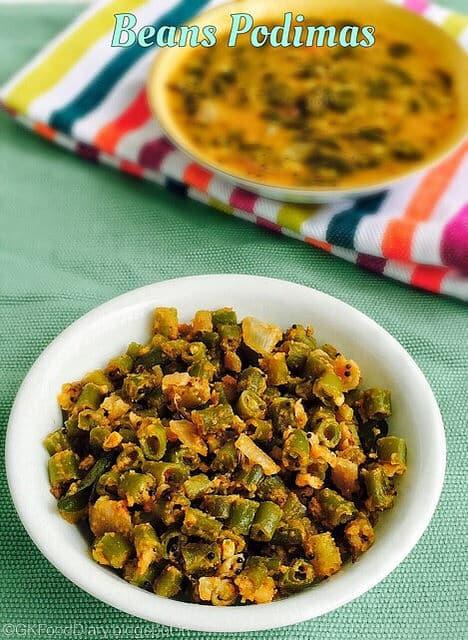 Beans Podimas Recipe | Beans poriyal without coconut | Stir-fry Recipes 1