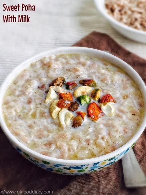 Sweet Poha Recipe for kids| Sweet Flattened Rice | Toddler food 1