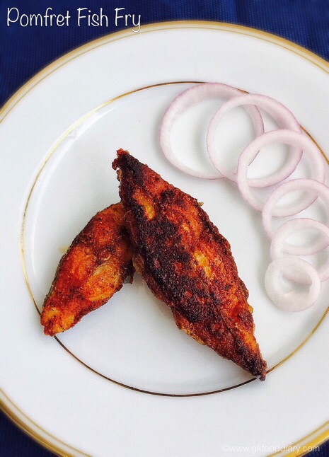 Pomfret fish fry Recipe | Fish Recipes 1