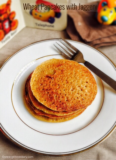 Wheat Pancakes Recipe for Babies & Kids | Kids Snacks 1