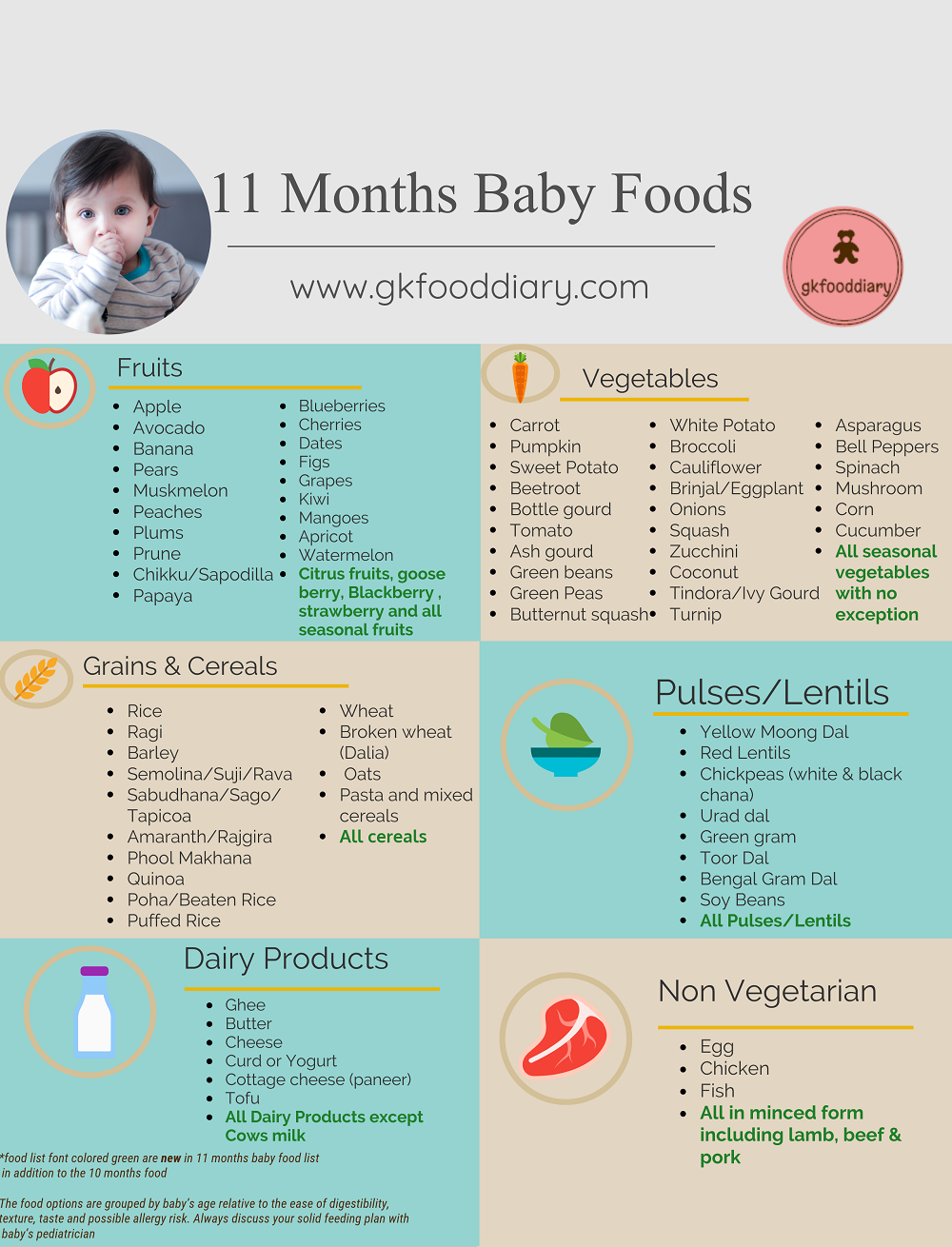 11 Months Baby Food