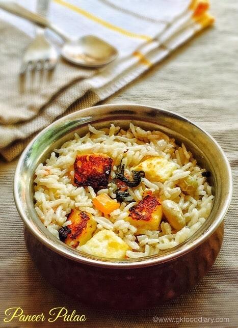 Paneer Pulao Recipe for baby & toddlers | Rice Varieties 1