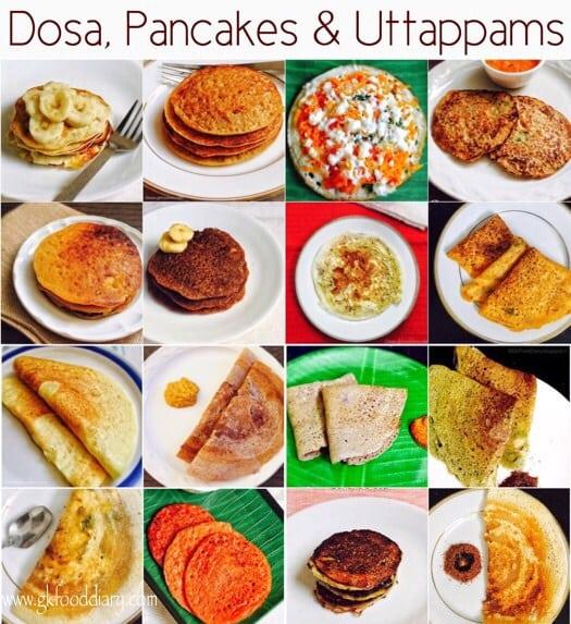 20 Dosa varieties for Babies, Toddlers & Kids | Dosa, Uttappams, Pancakes 1