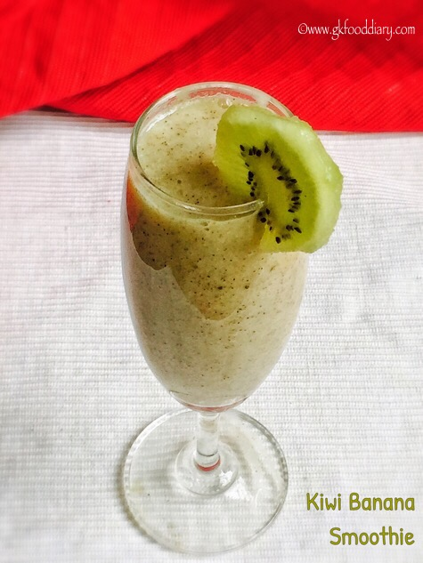 Kiwi Banana Smoothie for Babies, Toddlers and Kids | Kiwi for Babies 1