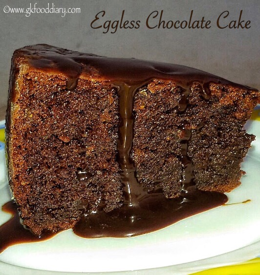 Eggless Chocolate Cake Recipe with Dried Figs and Chocolate Icing 1