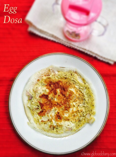 Egg Dosa Recipe for Babies, Toddlers and Kids 1
