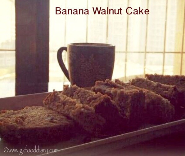 Banana Walnut Cake Recipe for Toddlers and Kids 1