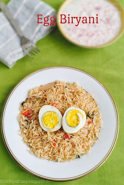 EGG Recipes Collection - Egg Biryani