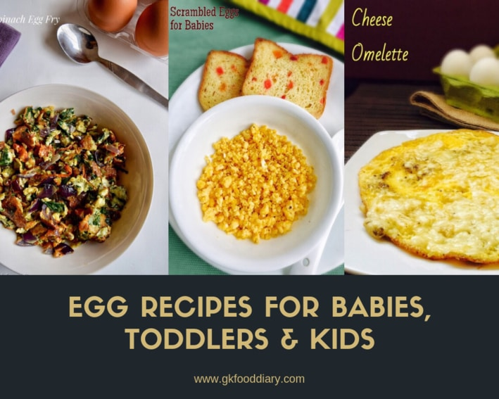 Egg Recipes for Babies, Toddlers & Kids