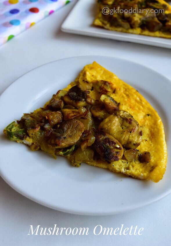 EGG Recipes Collection - Mushroom Omelette