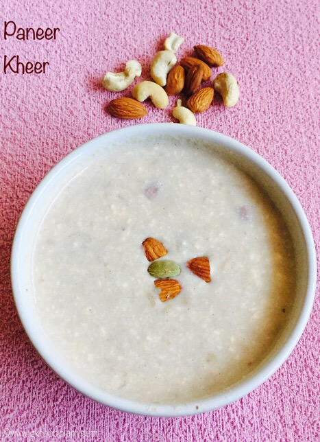 Paneer Kheer Recipe for Toddlers and Kids 1