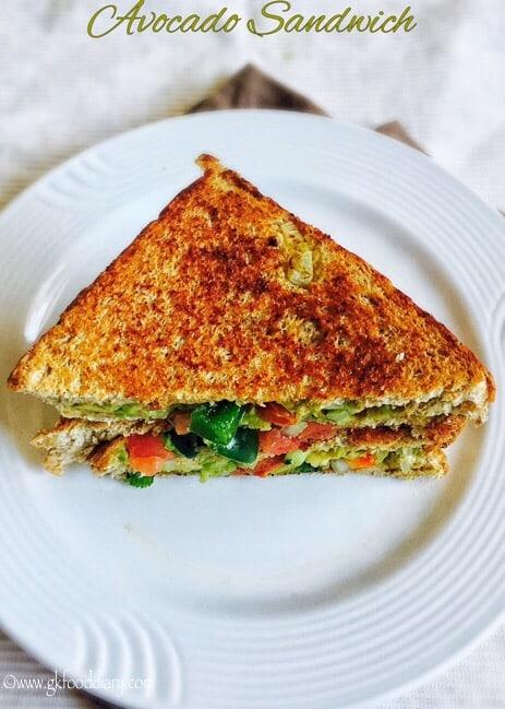 Avocado Sandwich Recipe for Toddlers and Kids | Guacamole Sandwich 1