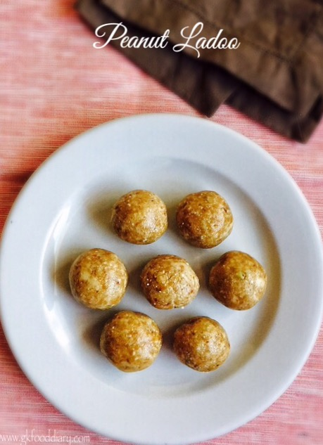 Peanut Ladoo Recipe for Toddlers and Kids | Peanut Laddu 1