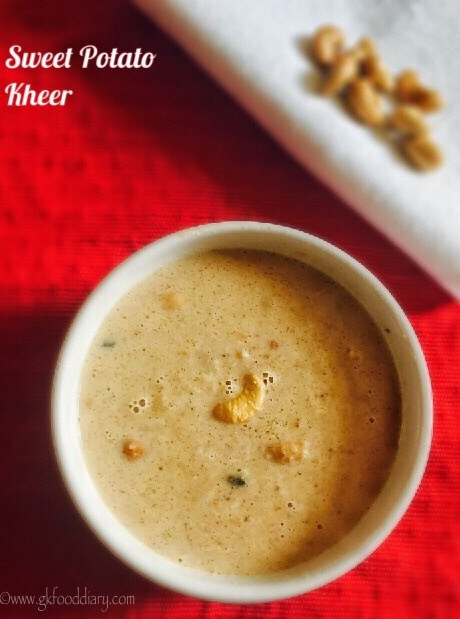 Sweet Potato Kheer Recipe for Babies, Toddlers and Kids 1