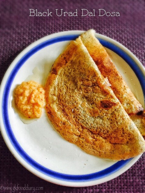 Whole Black Gram Dosa Recipe for Toddlers and Kids | Black Urad Dal Dosa 1