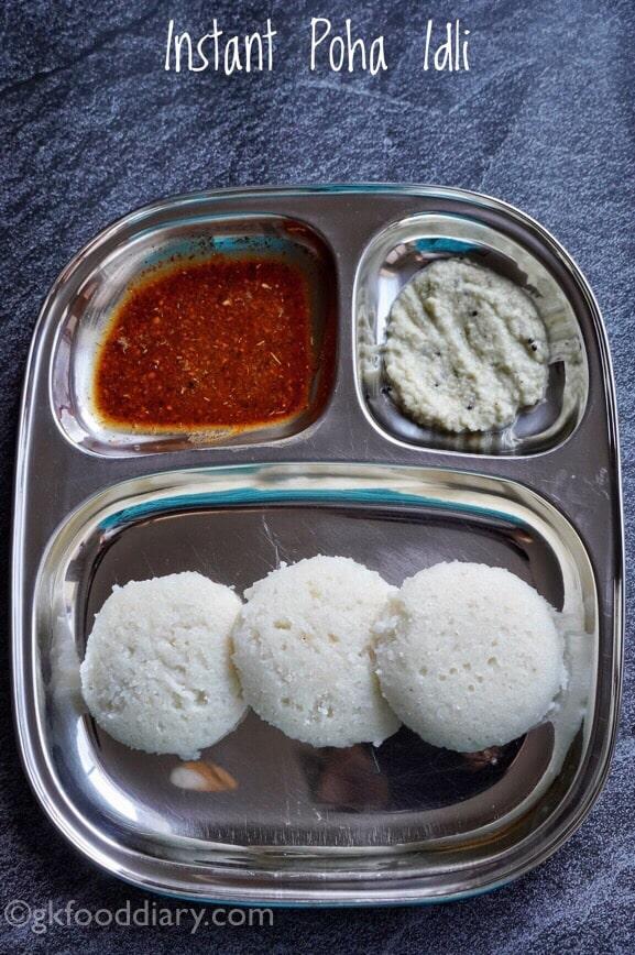 Instant Poha Idli Recipe