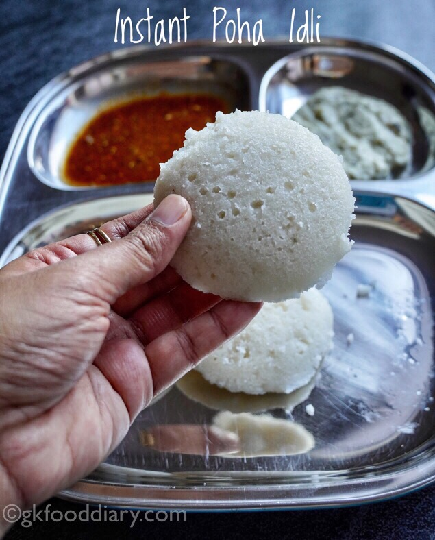 Instant Poha Idli for Babies, Toddlers