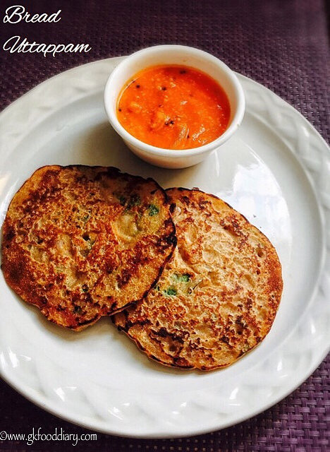 Bread Uttapam Recipe for Toddlers and Kids | Instant Bread Dosa 1