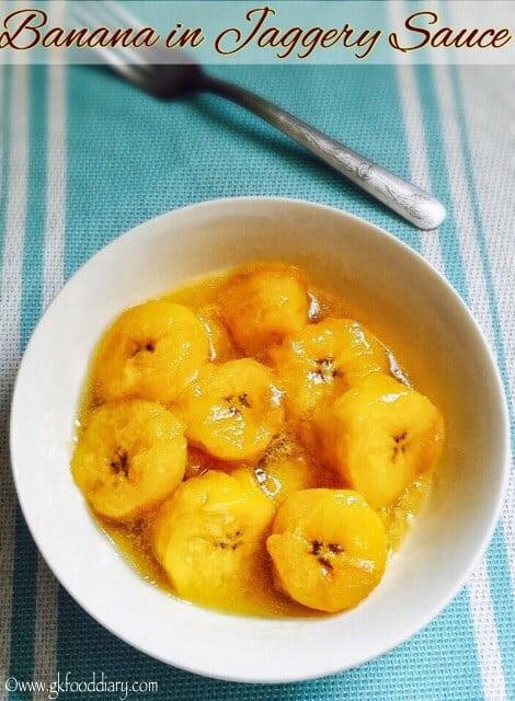 Banana in Jaggery Sauce for Toddlers and Kids | Pazham Nurukku 1