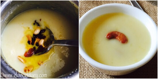 Moong dal kheer recipe step 4