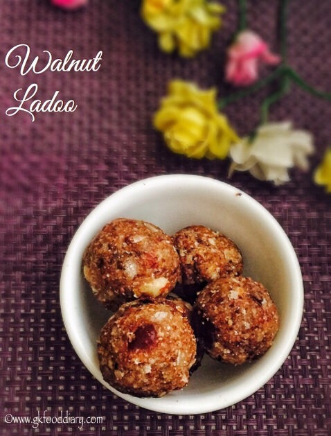 Walnut Ladoo Recipe For Babies, Toddlers and Kids 1