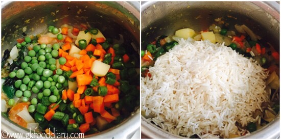 Vegetables Nuts Pulao Recipe step 5