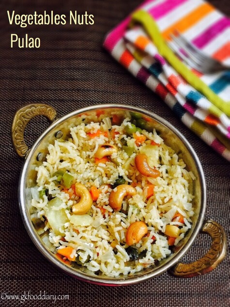 Vegetables Nuts Pulao Recipe