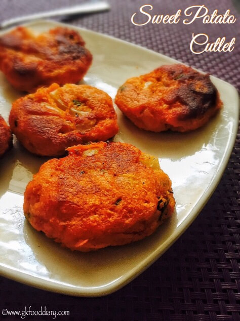 Sweet Potato Cutlet Recipe for Toddlers and Kids | Sweet Potato Patties 1