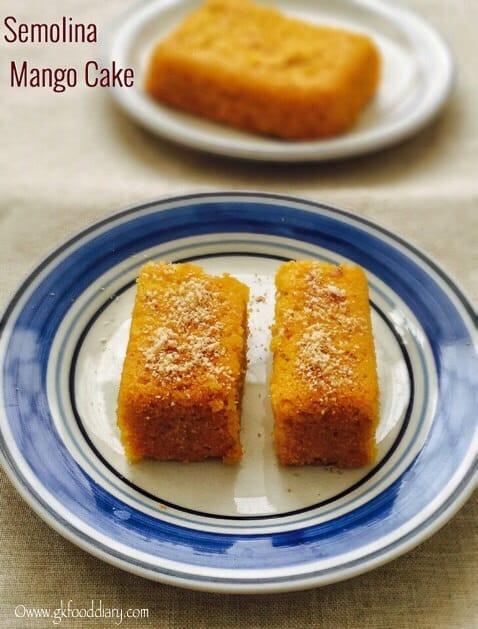 Mango Semolina Cake Recipe for Toddlers and Kids 1