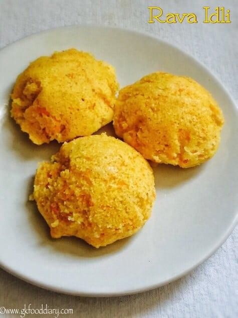 Carrot Rava Idli Recipe for Toddlers and Kids | Instant Sooji Idli 1