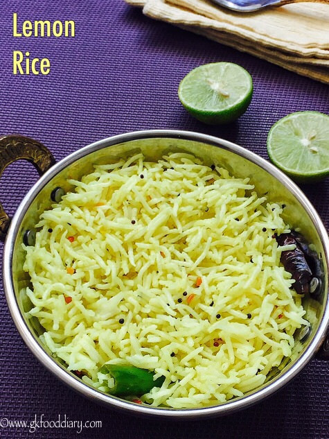 Lemon Rice Recipe for Toddlers and Kids 1