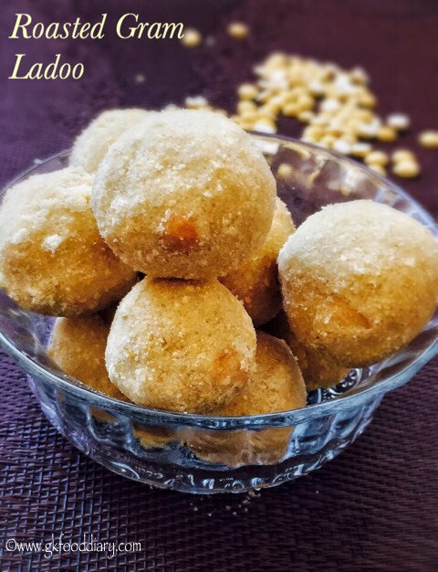 Roasted Gram Dal Ladoo Recipe for Toddlers and Kids 1