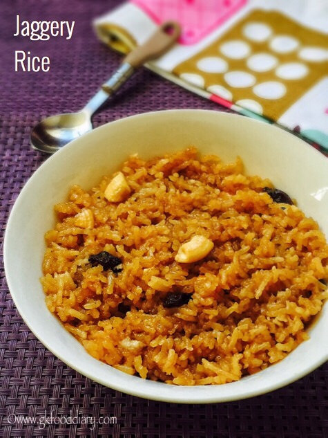 Jaggery Rice Recipe for Toddlers and Kids 1