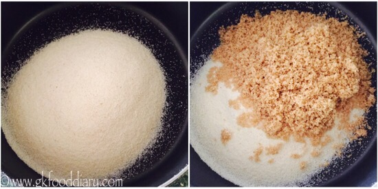 Eggless Rava Cake -step1
