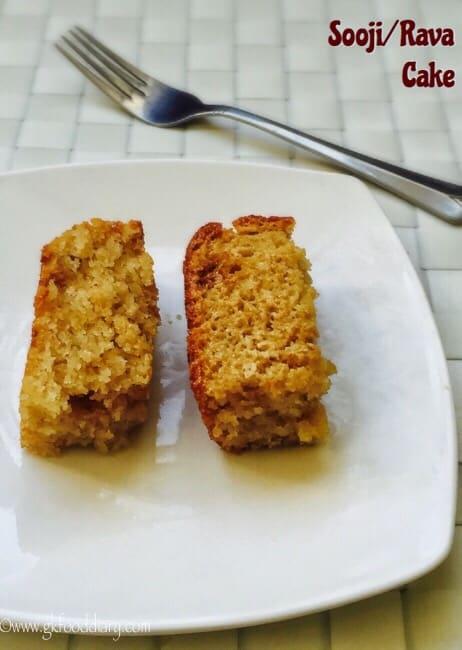 Eggless Sooji / Rava Cake 2