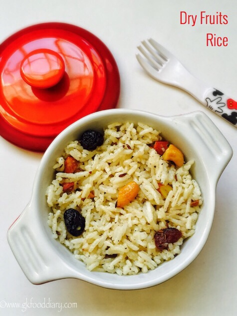 Dry Fruits Rice Recipe for Kids