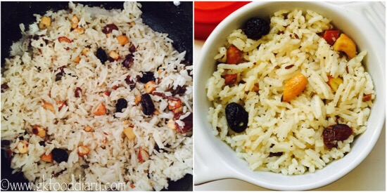 Dry Fruits Rice Recipe for Toddlers and Kids step 5