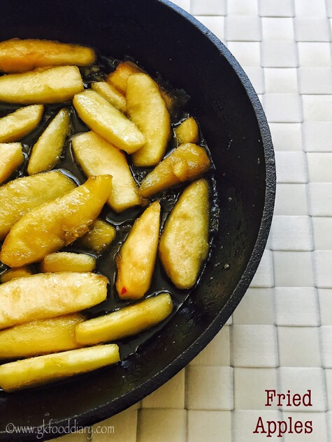 Fried Apples Recipe for Babies, Toddlers