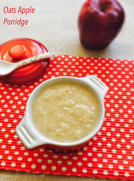 Oats Apple Porridge Recipe for Babies, Toddlers
